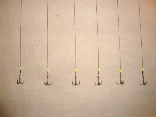 6 WIRE ICE FISHING HOT BEAD TIP UP LEADERS RIGS Beaver Dam Frabill HT Polar