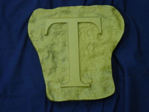 Alphabet Letter T Stepping Stone Plaster or Concrete Mold 1213 Moldcreations