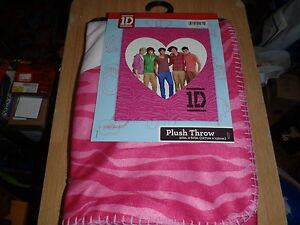 ONE-DIRECTION-1D-Fleece-Blanket-Bed-Plush-Throw-New-With-Tags-Size-50-034-x-60-034
