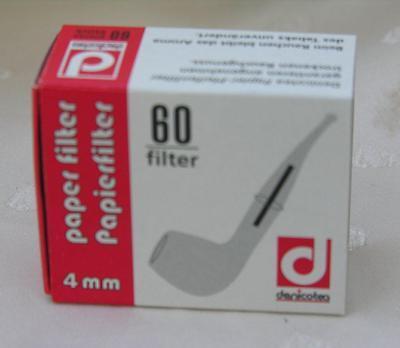 60 pcs 10144 Denicotea 4mm pipe filter paper filtro filtrar fischietto cachimba