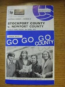 28041972 Stockport County v Newport County  Team Changes Item In very good - <span itemprop=availableAtOrFrom>Birmingham, United Kingdom</span> - Returns accepted within 30 days after the item is delivered, if goods not as described. Buyer assumes responibilty for return proof of postage and costs. Most purchases from business s - Birmingham, United Kingdom