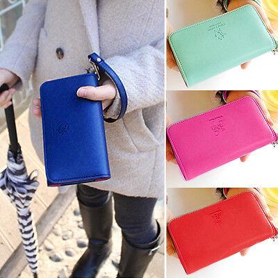 Womens Purse Wallet Clutch Long HandBag Wrist Tote Fashion card bag 7colors