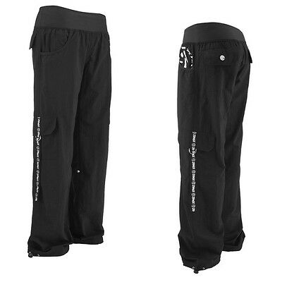 NWT NEW Zumba Fitness Electro CARGO PANTS BLACK SMALL S RARE Hard to Find!!