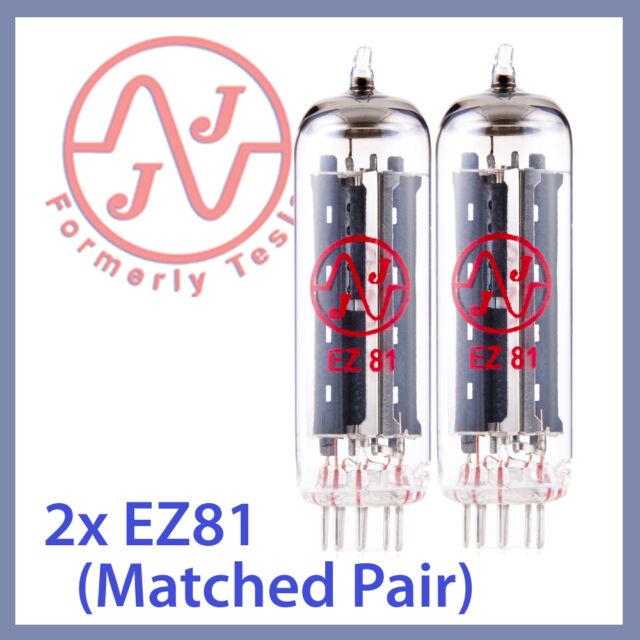 2x  JJ Tesla 6CA4 / EZ81 Vacuum Tubes, Matched Pair TESTED