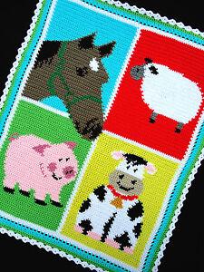 Crochet Patterns Barnyard Farm Animals Colorful Horse