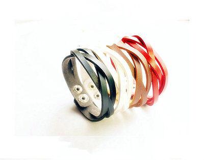 Fashion Bangle Trend Snap Closure Twist Woven Wristband Leather Braided Bracelet
