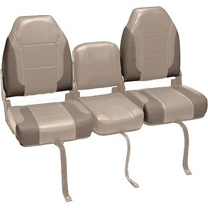 Deckmate 3 Piece 46 Bass Boat Bench Seats Set Tan Beige