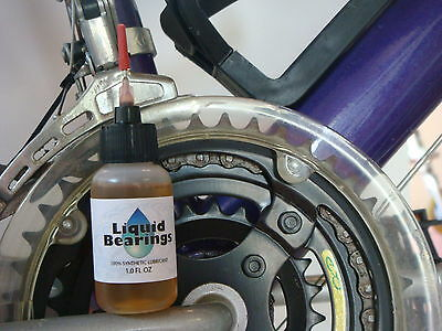 Liquid Bearings, SUPERIOR 100%-synthetic oil for road bike chains & chain rings