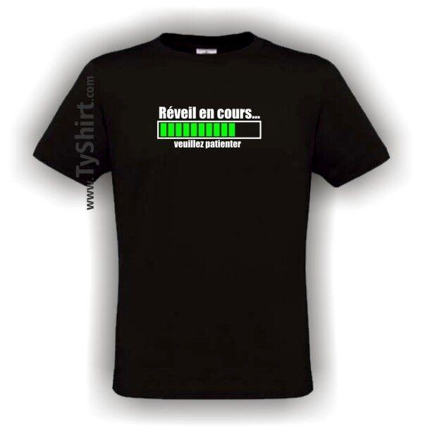 Tee Shirt humour Réveil en cours   S M L XL XXL XXXL ( drole, Vert, T, Geek )
