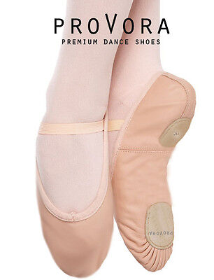 SPLIT SOLE leather Ballet Shoes Child's / Adult's Sizes Pre Sewn Elastics. PINK