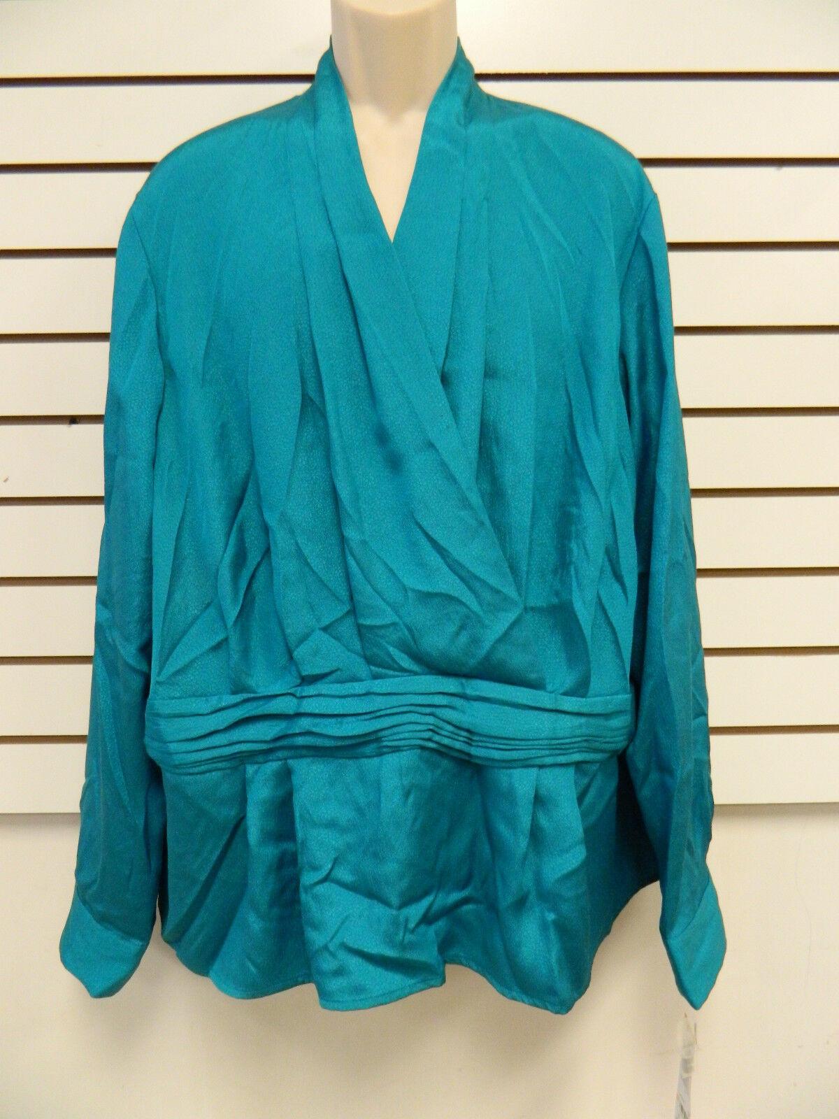 Jones New York Collection Woman New Womens Jade Blouse 24W Shirt
