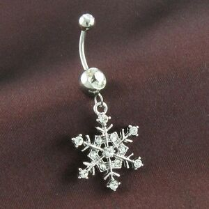 Snowflake Belly Ring