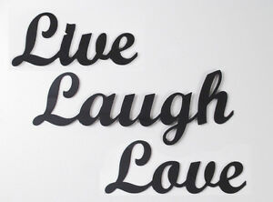 Metal-Wall-Art-Work-034-Live-Laugh-Love-034-Words-Wrought-Iron-Home-Decor-Sign-Steel