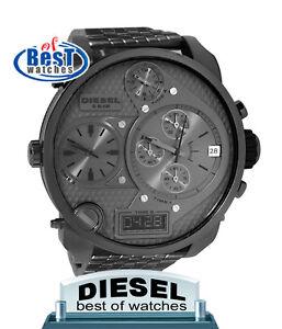 Diesel-DZ7247-men-sba-oversize-chronograph-stainless-steel-bracelet-watch-NEW