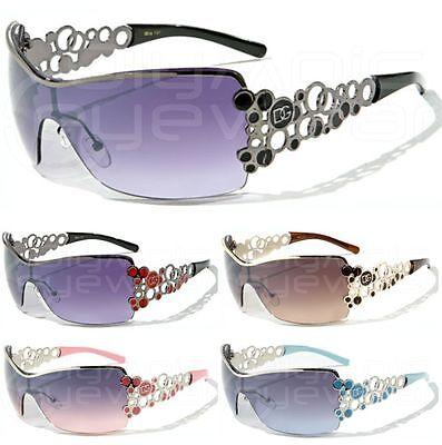 DG Eyewear Oversized Rimless Rhinestone Fashion Sunglasses 337