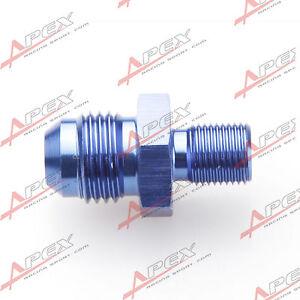 AN-6-AN6-6AN-Male-Bis-1-8-BSP-BSPP-Gerader-Adapter-Aluminium-Blau