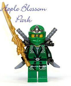 New lego ninjago green ninja minifig lloyd zx minifigure w dragon sword 9450 ebay - Ninjago lloyd gold ...