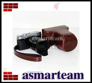 Ever-Ready-Camera-Case-Bag-strap-for-Fujifilm-Fuji-X-E1-XE1-XE-1-Camera-Brown