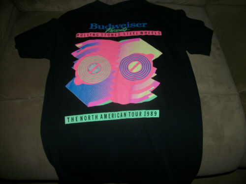 NICE 1989 ROLLING STONES STEEL WHEELS NORTH AMERICAN TOUR CONCERT SHIRT LARGE