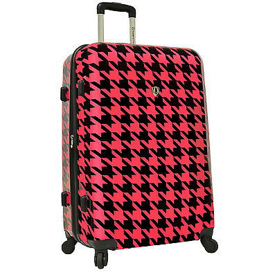 """Travelers Choice Art Print Houndstooth 29"""" Spinner Luggage Travel Suitcase Bag"""