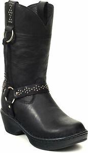 DURANGO-DREAM-Womens-Black-Harness-Western-Leather-RD3860-Cowgirl-Boots