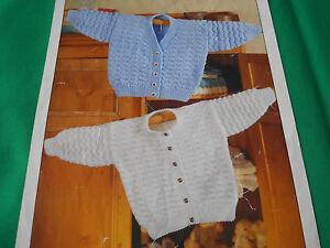 Childs-v-neck-and-round-neck-cardigans-size-16-24-knitting-pattern