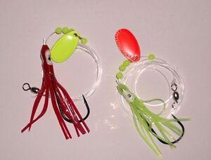 Sea-Fishing-10-Boat-Pier-Spoon-Muppet-Rigs-60lb-to-6-0-Hooks