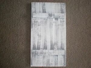 White Weathered Look Shutter Primitive Rustic Wood Ebay