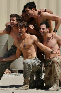 Shirtless-Male-Military-Hunks-Group-Pose-Hot-Army-Guys-Muscular-PHOTO-4X6-P2093