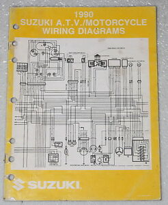 1990 SUZUKI Motorcycle and ATV Electrical Wiring Diagrams ...