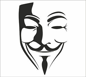 ANONYMOUS-MASK-Guy-Guido-Fawkes-V-for-Vendetta-decal-sticker-vinyl-wall-art-V1