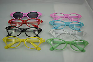 Pink-ladies-50s-flyaway-fancy-dress-glasses-red-green-yellow-black-white-grease