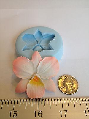 ORCHID FLOWER SILICONE MOLD #85 CHOCOLATE, FONDANT, GUMPASTE, CAKE, SUGARCRAFT