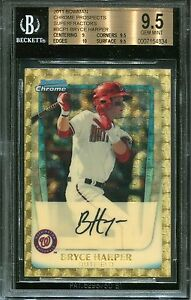 2011-Bowman-Chrome-Prospects-BCP1-Bryce-Harper-Superfractor-RC-1-1-BGS-9-5
