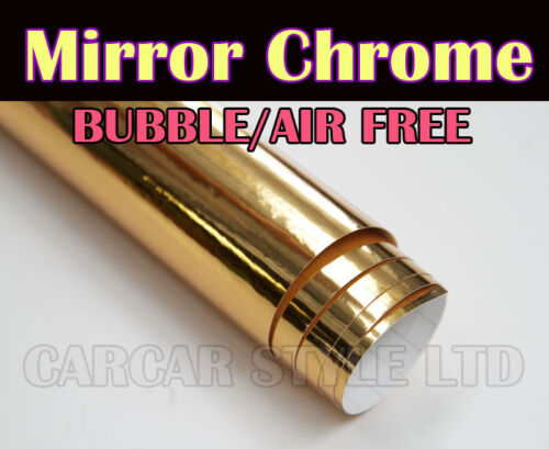 【Mirror Chrome】Vehicle Wrap Vinyl Sticker【1.52Meter width】 Air/BUBBLE Free