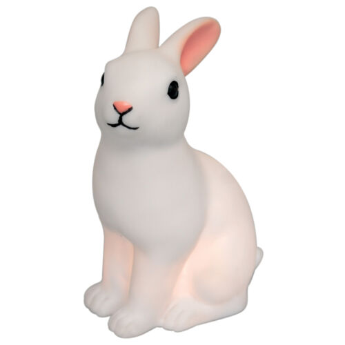 dotcomgiftshop WHITE RABBIT LED NIGHT LIGHT. BUNNY CUTE BEDROOM DECORATION