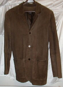 Grant Thomas Brown Suede Leather Blazer/Sport Coat Jacket Mens ...
