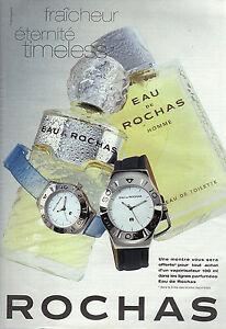 PUBLICITE ADVERTISING   2002    ROCHAS  parfum homme eau de toilette EAU