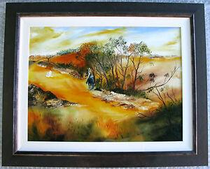 Allan-Goddard-039-s-Australian-original-oil-titled-039-Heading-for-home-039