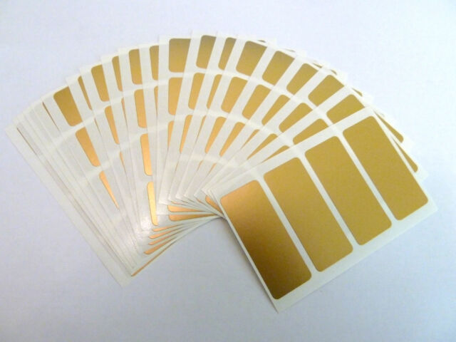 50x20mm Rectangle Stickers Coloured Rectangular Sticky Labels 36 Colours