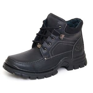New-Mens-Leather-Ankle-Boots-Casual-Military-Combat-Style-Work-Lace-Shoes-Padded