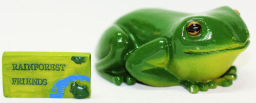MINIATURE GREEN TREE FROG 8CM Really Cute & Realistic Look NEW Great Gift Idea !
