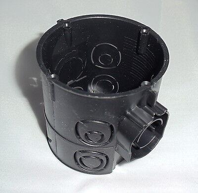 100 Stück Schalterdose tief Ø 60 mm 64 mm tief schwarz Schalterabzweigdose