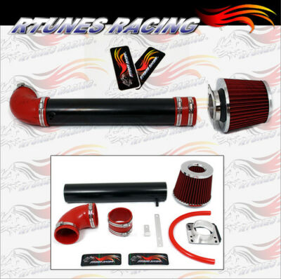Rtunes 88-95 Toyota Pickup 4Runner 2.4 Matte Black RAM AIR INTAKE KIT+RED FILTER