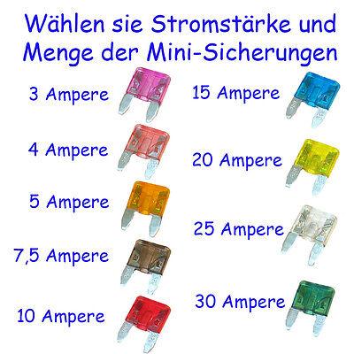 Sicherungen Sortiment Auswahl KFZ Auto Motorrad Mini Maxi Set Flachsicherung