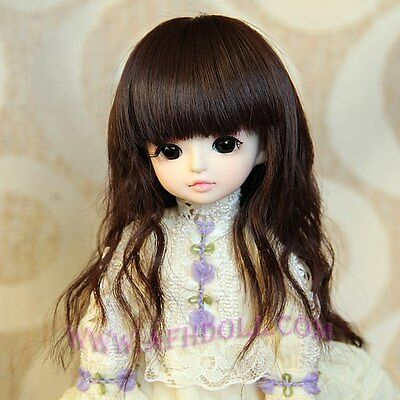 "1/6 BJD Wig 6-7"" YOSD a little doll dark brown Hair AOD AF DL DZ DK DOD Luts 5ST"