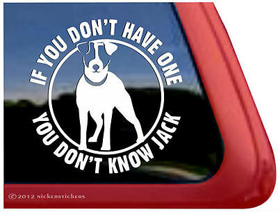 YOU DON'T KNOW JACK Vinyl Jack Russell Terrier JRT Dog Window Decal Sticker