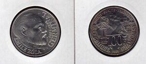 FRANCE-100-F-argent-EMILE-ZOLA-1985-superbe