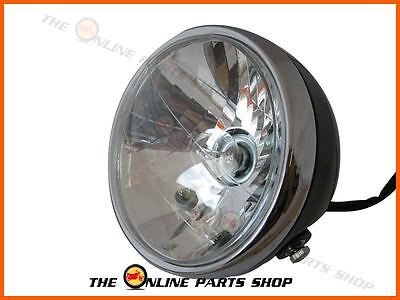 Universal Motorcycle Motorbike 7 Inch Metal Round Headlight 12v 35w Bulb Emarked