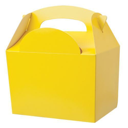 Childrens Kids Plain Colour Carry Food Box - Loot Favour Birthday Party Boxes